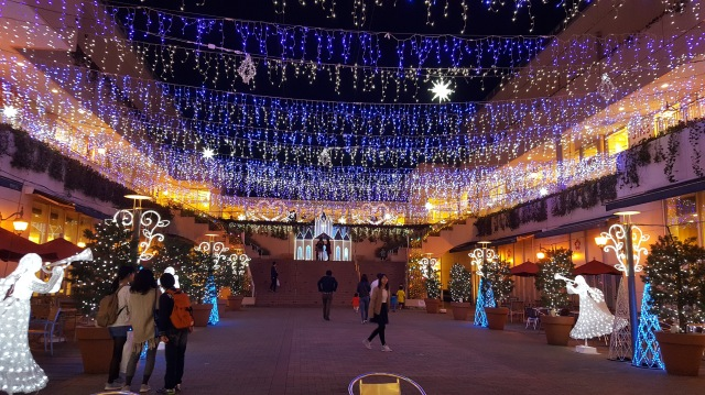 Christmas lights in Japan