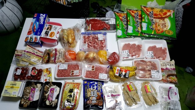 Spending Money Per Day in Japan - Groceries