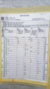 Getting Around Okinawa Without a Car - Bus Timetable