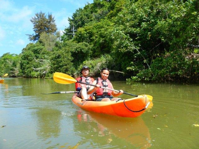 Kayaking Yanbaru Mangrove Okinawa - Heading back to the school