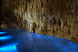 How Okinawa is Different from Mainland Japan - Cavern blue light view